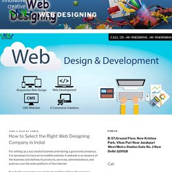 How to Select the Right Web Designing Company in India