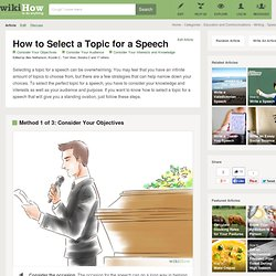 How to Select a Topic for a Speech: 5 steps