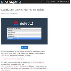 Select2 and Laravel: Ajax Autocomplete
