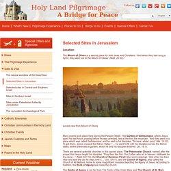 Selected Sites in Jerusalem