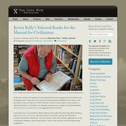 Kevin Kelly's Selected Books for the Manual for Civilization