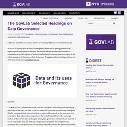 The GovLab Selected Readings on Data Governance - The Governance Lab