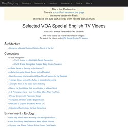 Selected VOA Special English TV Videos