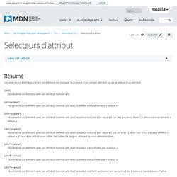Sélecteurs d'attribut - CSS