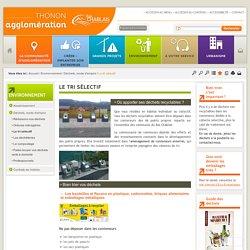 Le tri sélectif / Déchets, mode d'emploi / Environnement / Accueil - Site internet de la CC du Bas-Chablais