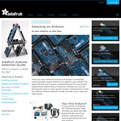 Adafruit Arduino Selection Guide