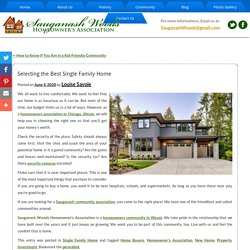 Selecting the Best Single Family Home