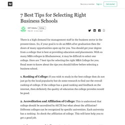Best Tips for Selecting Right Business Schools