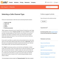 Selecting a Zello Channel Type – Zello Support