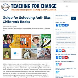 Guide for Selecting Anti-Bias Children's Books - Teaching for Change : Teaching for Change