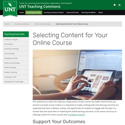 Selecting Content for Your Online Course