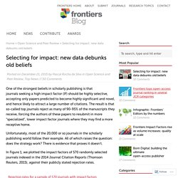 Selecting for impact: new data debunks old beliefs – Frontiers Blog