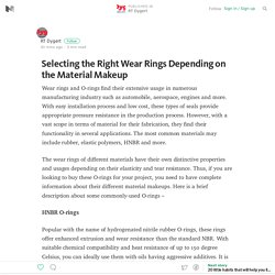 Selecting the Right Wear Rings Depending on the Material Makeup — RT Dygert