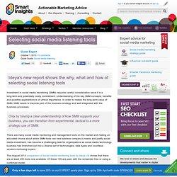 Selecting social media listening tools