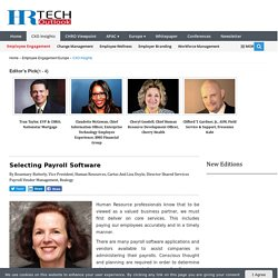 Selecting Payroll Software