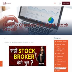 Tips for Selecting Which Stockbroker Should Pick