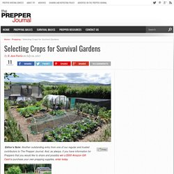 Selecting Crops for Survival Gardens