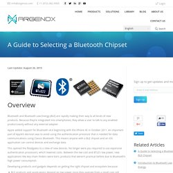 A Guide to Selecting a Bluetooth and BLE Chipset