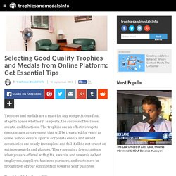 Buy Good Quality Trophies and Medals from Online Platform