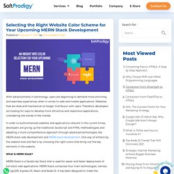 Selecting the Right Website Color Scheme for Your Upcoming MERN Stack Development