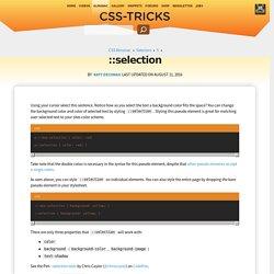 ::selection