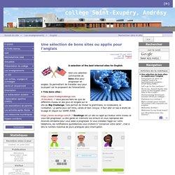 Une sélection de bons sites ou applis pour l'anglais - Collège Saint-Exupéry Andrésy