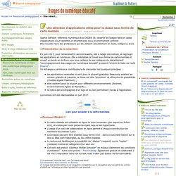 Une sélection d'applications utiles pour la classe- Usages du numérique éducatif