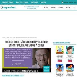 Hour of code, sélection d'applications enfant pour apprendre à coder
