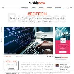 #EdTech : Sélection d'outils pour mettre votre mois d'août à profit en apprenant le code - Maddyness