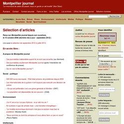 Sélection d'articles