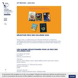Sélection Prix des collèges 2020 - Festival de la Bande Dessinée