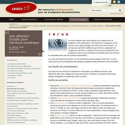 Savoirs CDI: Une sélection d'outils pour l'écriture numérique