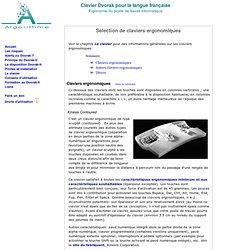 Clavier Dvorak-fr : Le clavier : Sélection de claviers ergonomiques