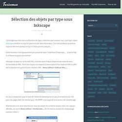 Sélection des objets par type sous Inkscape