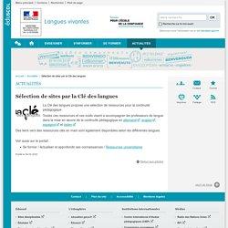 Langues vivantes_Sélection de sites par la Clé des langues_site_Éduscol langues vivantes