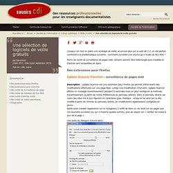 Savoirs CDI: logiciels de veille gratuits
