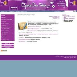Sélection de séquences pédagogiques en ligne - Espace Doc Web