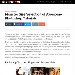 Monster Size Selection of Awesome Photoshop Tutorials