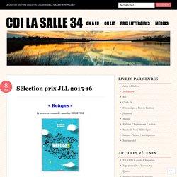 Sélection prix JLL 2015-16