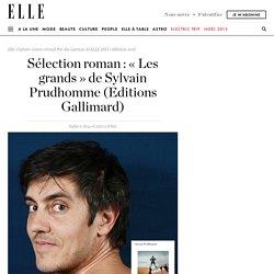 Sélection roman : « Les grands » de Sylvain Prudhomme (Editions Gallimard)