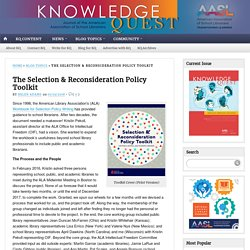 *AASL Selection & Reconsideration Policy Toolkit