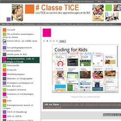 Coding for kids, une sélection de ressources pour aborder le code à l'école