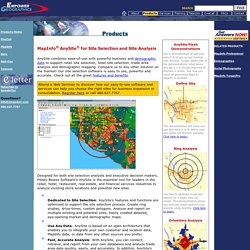 MapInfo AnySite for Site Selection of retail, hotel, restaurant locations