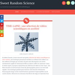 TIME-LAPSE : une sélection de vidéos scientifiques en accéléré