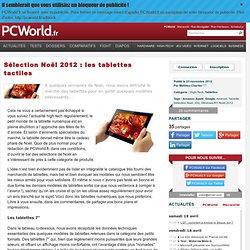 Sélection Noël 2012 : les tablettes tactiles