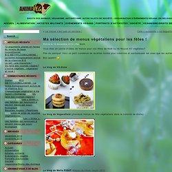 Ma sélection de menus végétaliens pour les fêtes !