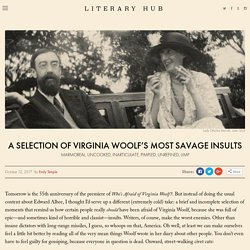 A Selection of Virginia Woolf's Most Savage Insults