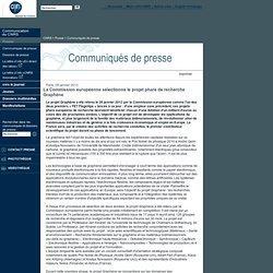 La Commission européenne sélectionne le projet phare de recherche Graphène
