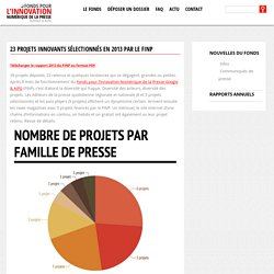 23 projets innovants sélectionnés en 2013 par le FINP