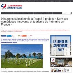 Projets « Services numériques innovants et tourisme de mémoire en France »